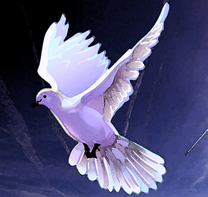 Flapping Dove